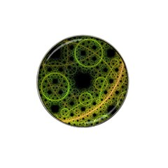 Abstract Circles Yellow Black Hat Clip Ball Marker (4 Pack)