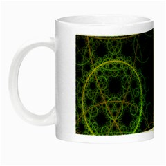 Abstract Circles Yellow Black Night Luminous Mugs