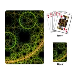 Abstract Circles Yellow Black Playing Card