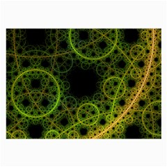 Abstract Circles Yellow Black Large Glasses Cloth