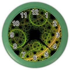 Abstract Circles Yellow Black Color Wall Clocks