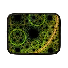 Abstract Circles Yellow Black Netbook Case (small)