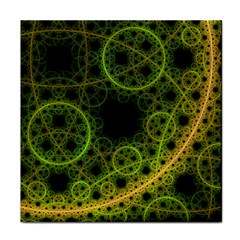 Abstract Circles Yellow Black Face Towel