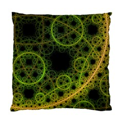 Abstract Circles Yellow Black Standard Cushion Case (one Side)