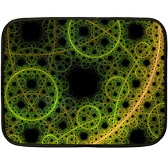 Abstract Circles Yellow Black Double Sided Fleece Blanket (mini)