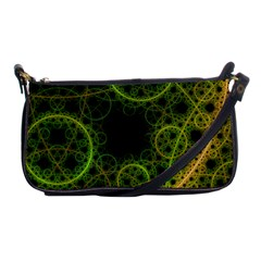Abstract Circles Yellow Black Shoulder Clutch Bags