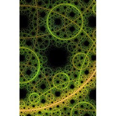 Abstract Circles Yellow Black 5 5  X 8 5  Notebooks
