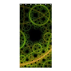 Abstract Circles Yellow Black Shower Curtain 36  X 72  (stall)