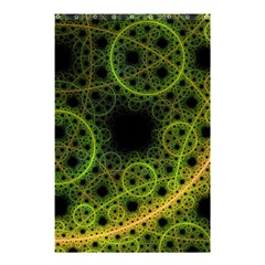 Abstract Circles Yellow Black Shower Curtain 48  X 72  (small)