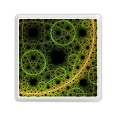 Abstract Circles Yellow Black Memory Card Reader (square)