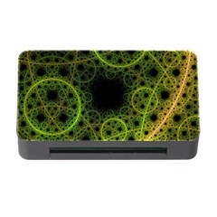 Abstract Circles Yellow Black Memory Card Reader With Cf