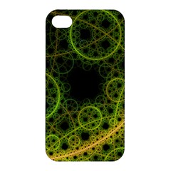 Abstract Circles Yellow Black Apple Iphone 4/4s Hardshell Case