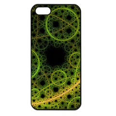 Abstract Circles Yellow Black Apple Iphone 5 Seamless Case (black)