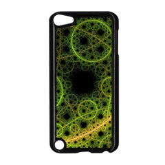 Abstract Circles Yellow Black Apple Ipod Touch 5 Case (black)