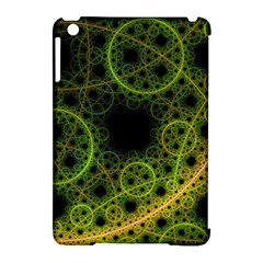 Abstract Circles Yellow Black Apple Ipad Mini Hardshell Case (compatible With Smart Cover)