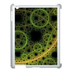 Abstract Circles Yellow Black Apple Ipad 3/4 Case (white)