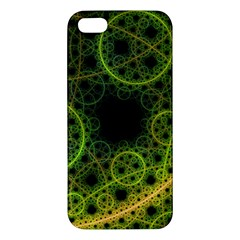 Abstract Circles Yellow Black Apple Iphone 5 Premium Hardshell Case