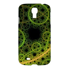 Abstract Circles Yellow Black Samsung Galaxy S4 I9500/i9505 Hardshell Case