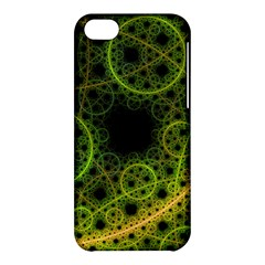Abstract Circles Yellow Black Apple Iphone 5c Hardshell Case