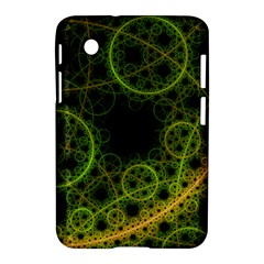 Abstract Circles Yellow Black Samsung Galaxy Tab 2 (7 ) P3100 Hardshell Case