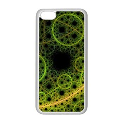 Abstract Circles Yellow Black Apple Iphone 5c Seamless Case (white)