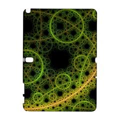 Abstract Circles Yellow Black Galaxy Note 1