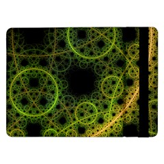 Abstract Circles Yellow Black Samsung Galaxy Tab Pro 12 2  Flip Case