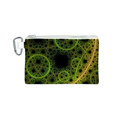 Abstract Circles Yellow Black Canvas Cosmetic Bag (s)