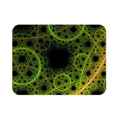 Abstract Circles Yellow Black Double Sided Flano Blanket (mini)