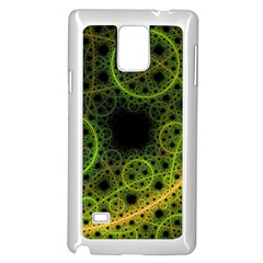 Abstract Circles Yellow Black Samsung Galaxy Note 4 Case (white)