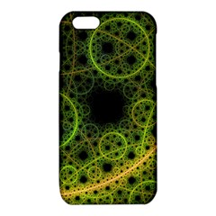 Abstract Circles Yellow Black iPhone 6/6S TPU Case