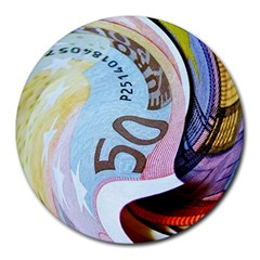 Abstract Currency Background Round Mousepads