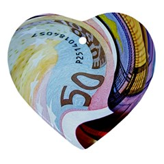 Abstract Currency Background Ornament (heart)