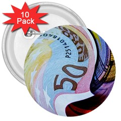 Abstract Currency Background 3  Buttons (10 Pack)