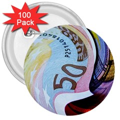Abstract Currency Background 3  Buttons (100 pack)