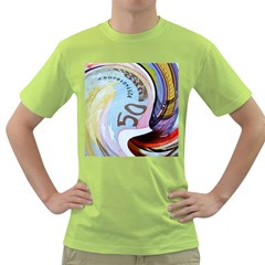 Abstract Currency Background Green T Shirt