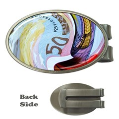 Abstract Currency Background Money Clips (oval)