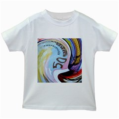 Abstract Currency Background Kids White T Shirts