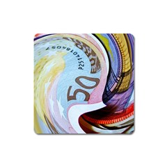Abstract Currency Background Square Magnet
