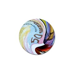Abstract Currency Background Golf Ball Marker (4 Pack)