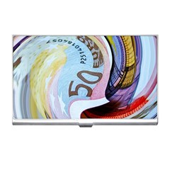 Abstract Currency Background Business Card Holders