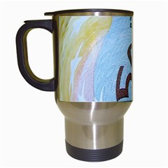 Abstract Currency Background Travel Mugs (white)