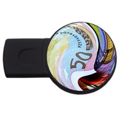 Abstract Currency Background Usb Flash Drive Round (4 Gb)
