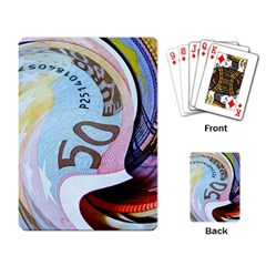 Abstract Currency Background Playing Card