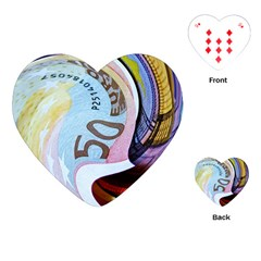 Abstract Currency Background Playing Cards (heart)