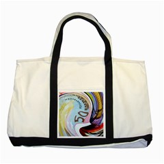 Abstract Currency Background Two Tone Tote Bag