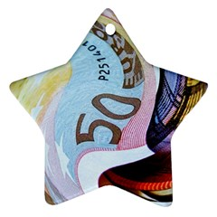 Abstract Currency Background Star Ornament (two Sides)