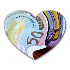 Abstract Currency Background Heart Mousepads