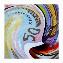 Abstract Currency Background Medium Glasses Cloth (2 Side)