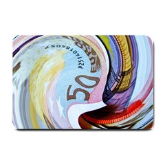 Abstract Currency Background Small Doormat
